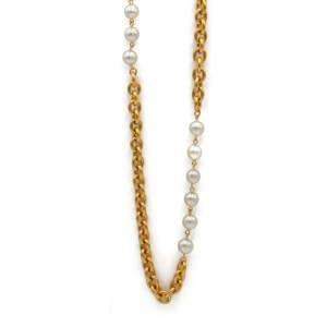 "31735 - Chanel 51"" Chain and Pearl Necklace, 1990"
