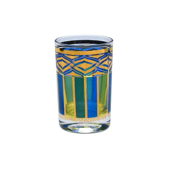 Nordic Libbey Blue & Green Juice Glasses