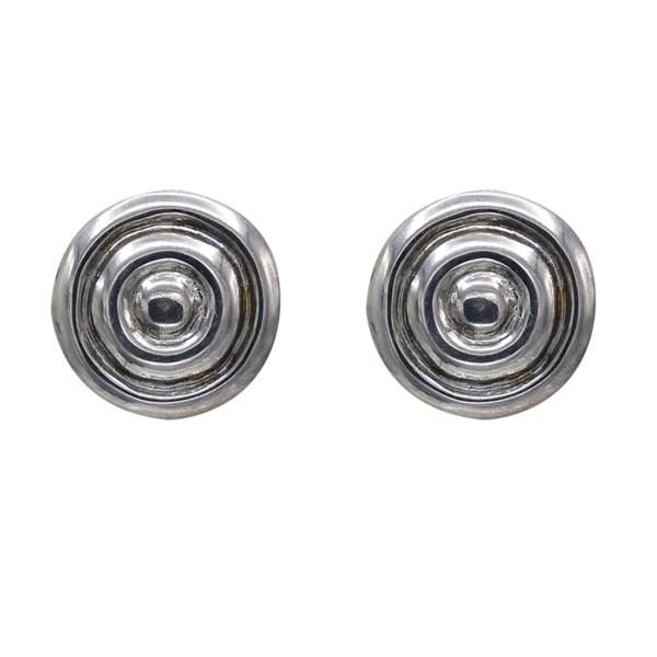 Robert Lee Morris Sterling Repousse Earrings, 2000