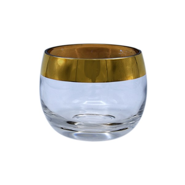 Dorothy Thorpe Small Gold Rimmed Roly Poly Glass