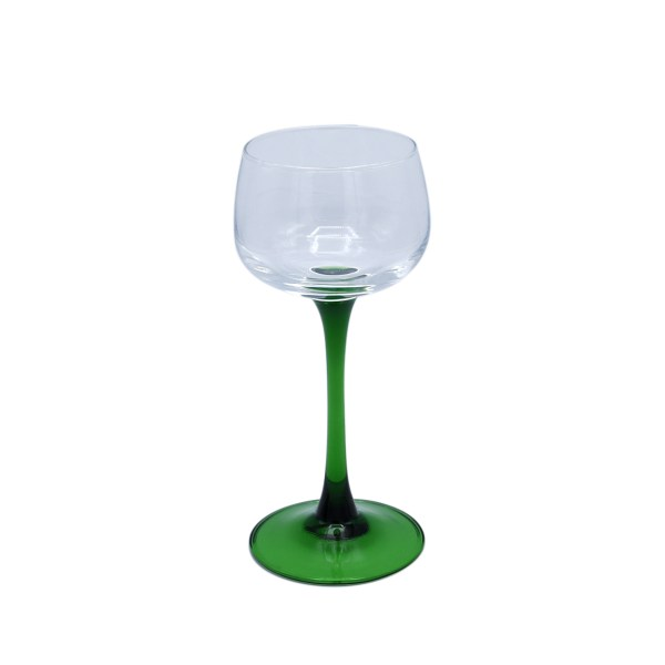 French Green Stemmed Wine Goblet