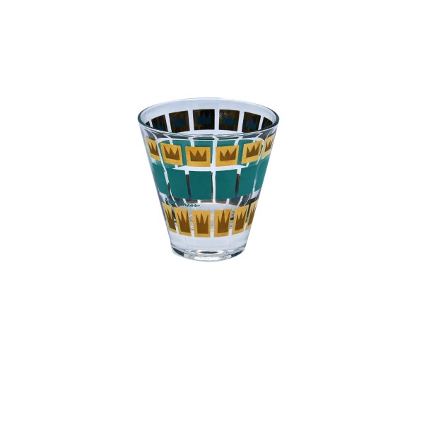 Fred Press Gold & Turquoise Double Shot Glasses