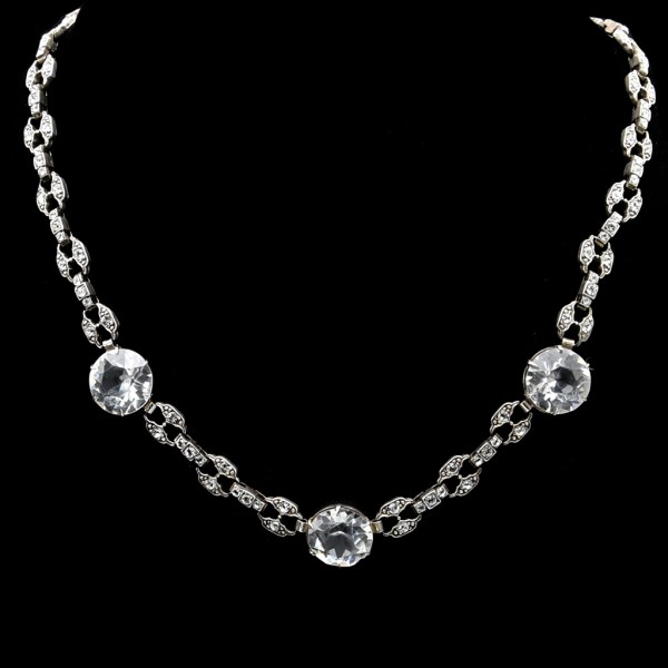 Edwardian Sterling & Paste Necklace 1915