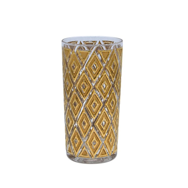 22k Gold Diamond Highball Glass