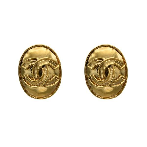 Chanel Oval Logo Earrings, Spring 1994