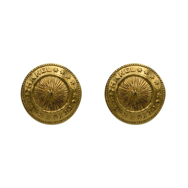 Chanel Radiating Star Dome Earrings, 1990