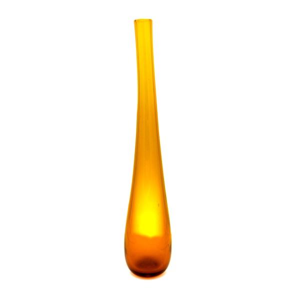 "Blenko Wayne Husted 15"" Yellow Art Glass Vase"
