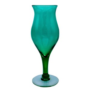 Blenko Wayne Husted Aqua Goblet Vase, 1959