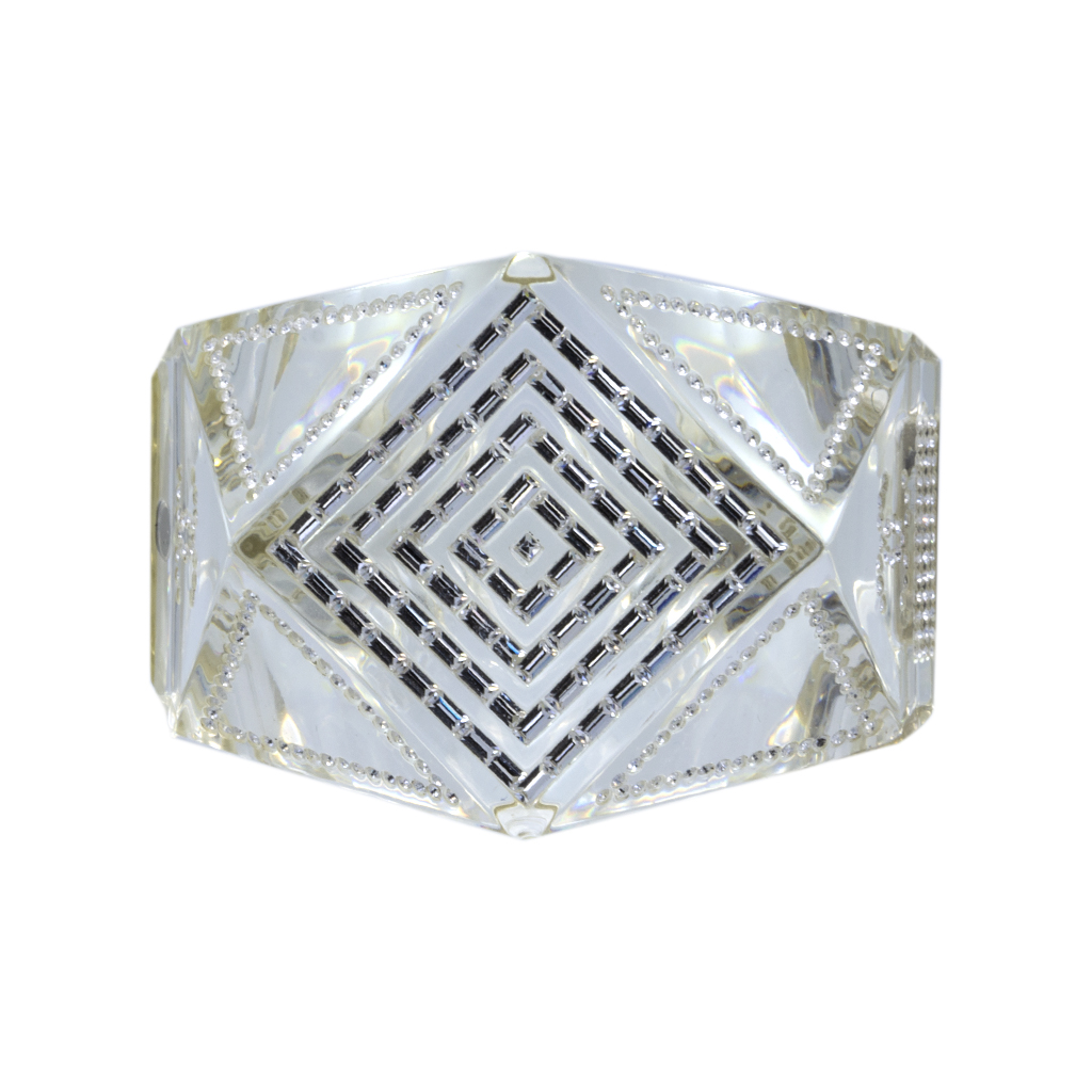 Chanel Rare 2 Clear Lucite & Paste Geometric Bangle, Autumn 2006