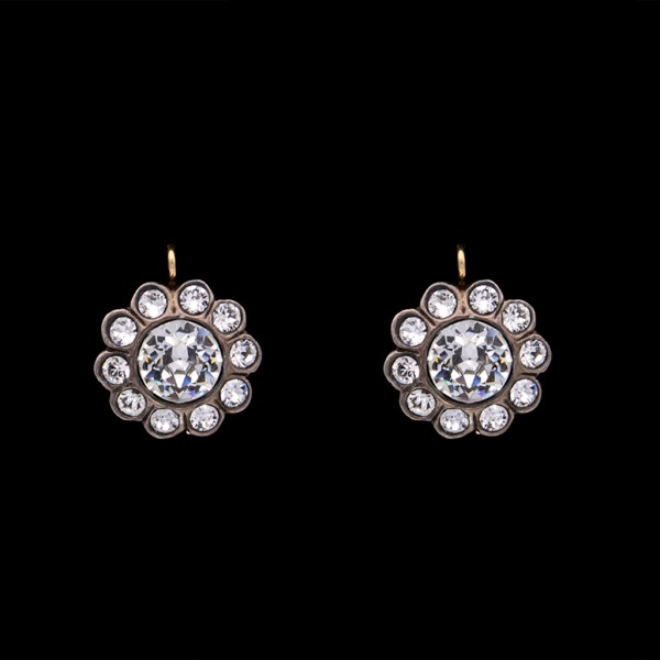 Product photo for Revival Paste Sterling Set Florette Earrings