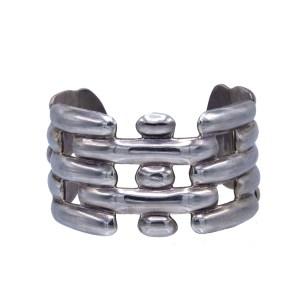 Vintage Taxco Alternating Blocks Cuff Bracelet