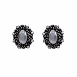 Product photo of TAXCO Sterling Silver Clip Back Concho Earrings