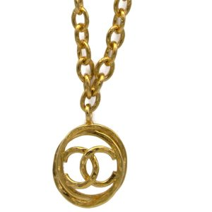 "Chanel 29 1/2"" Oval Link Chain with Interlinked Oval Logo Pendant & Stations, 1990"