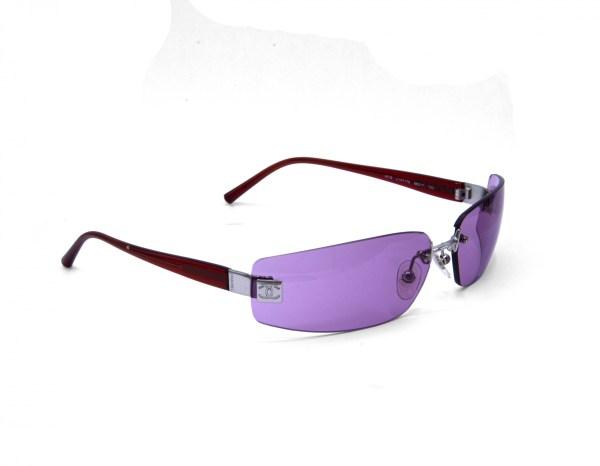 Chanel Frameless Sunglasses with Pink Lenses