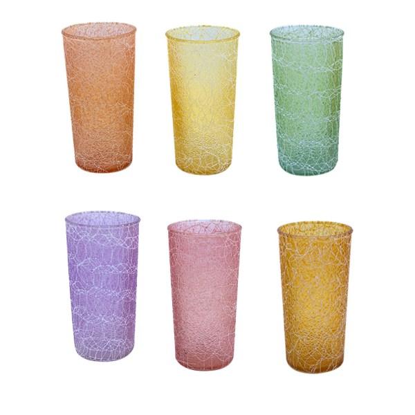 """Shat-R-Pruf"" Spaghetti String Highball Glasses, Set of Six (6)"
