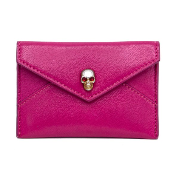 Alexander McQueen Hot Pink Business Card Wallet