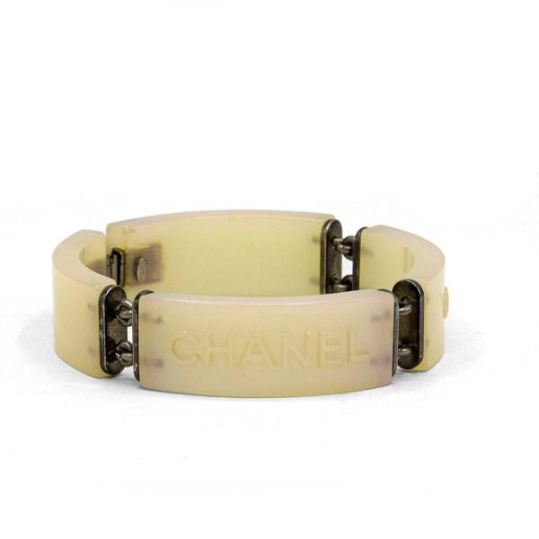 Chanel Pearlescent Acrylic Bracelet, Cruise 2000