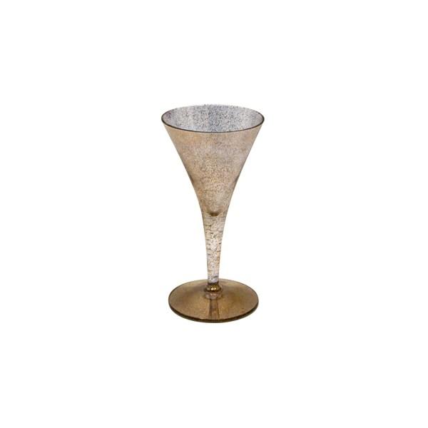 Set of 6 (six) Dorothy Thorpe 22k gold fleck champagne glass