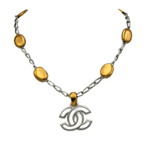 "Chanel 16 1/8"" Silver & Gilt Mixed Metals Necklace, Autumn 1998"