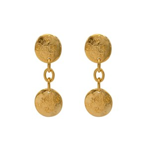 Chanel Free Form Double Drop Earrings, Spring 1993