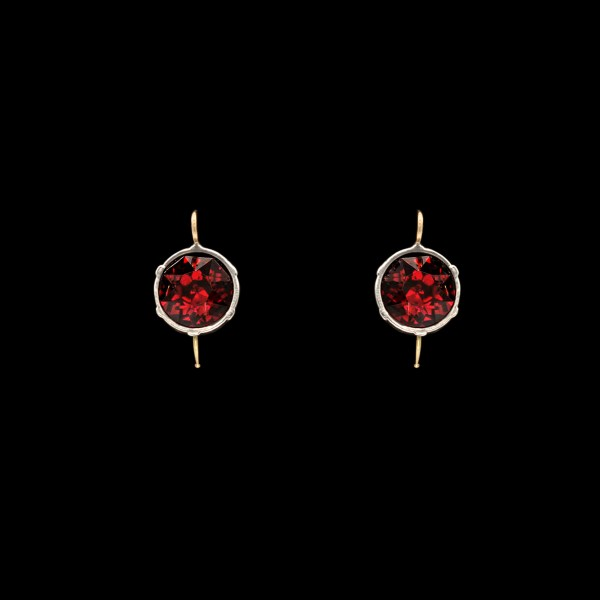 Revival Paste 2 Carat Ruby Paste Headlight Earrings