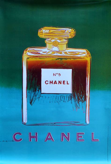Chanel by Andy Warhol, Green/Blue lithograph