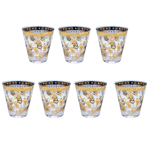 "Culver ""Chantilly"" Double Old-Fashioned Glasses, Set of Six (6)"
