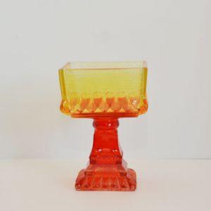orange yellow square compote