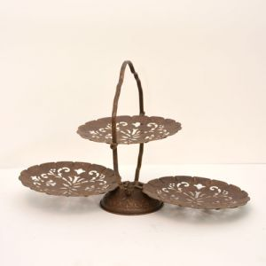 three tier metal stand