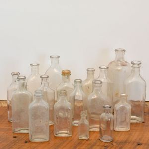 clear medicine bottles