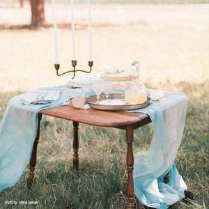 reclaimed drop-leaf sweatheart table
