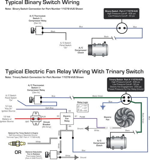small resolution of vintage air blog archive wiring diagrams binary switch trinary rh vintageair com air conditioner fan wiring