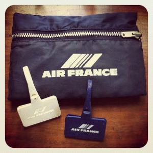 Air France Travel Amenities 1980s