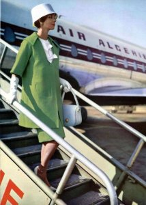 Beautiful Air Algerie Stewardess & Caravelle