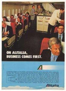 Alitalia 747 Business Class