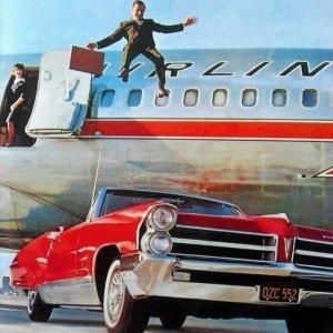 American Airlines Astro Jet Pontiac Ad 1960s