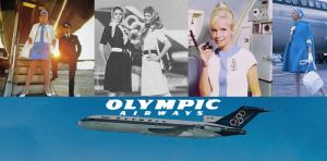Olympic Airlines Stewardess Uniform by Pierre Cardin