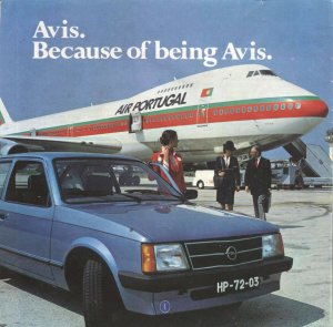 Avis Advertisement – TAP Air Portugal 747