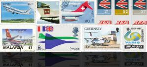 Classic Airline Postage Stamps