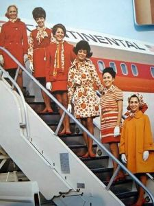 Continental Stewardess Crew 1970s