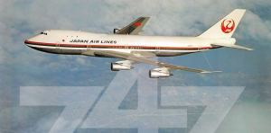 JAL Japan Air Lines Boeing 747