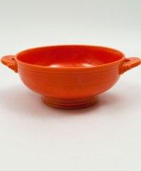 Vintage Fiesta Cream Soup Bowl: Original Red Fiestware