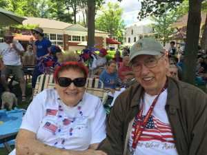 Maryanne and George Datesman at July 4th, 2017 Chautauqua Celebrations