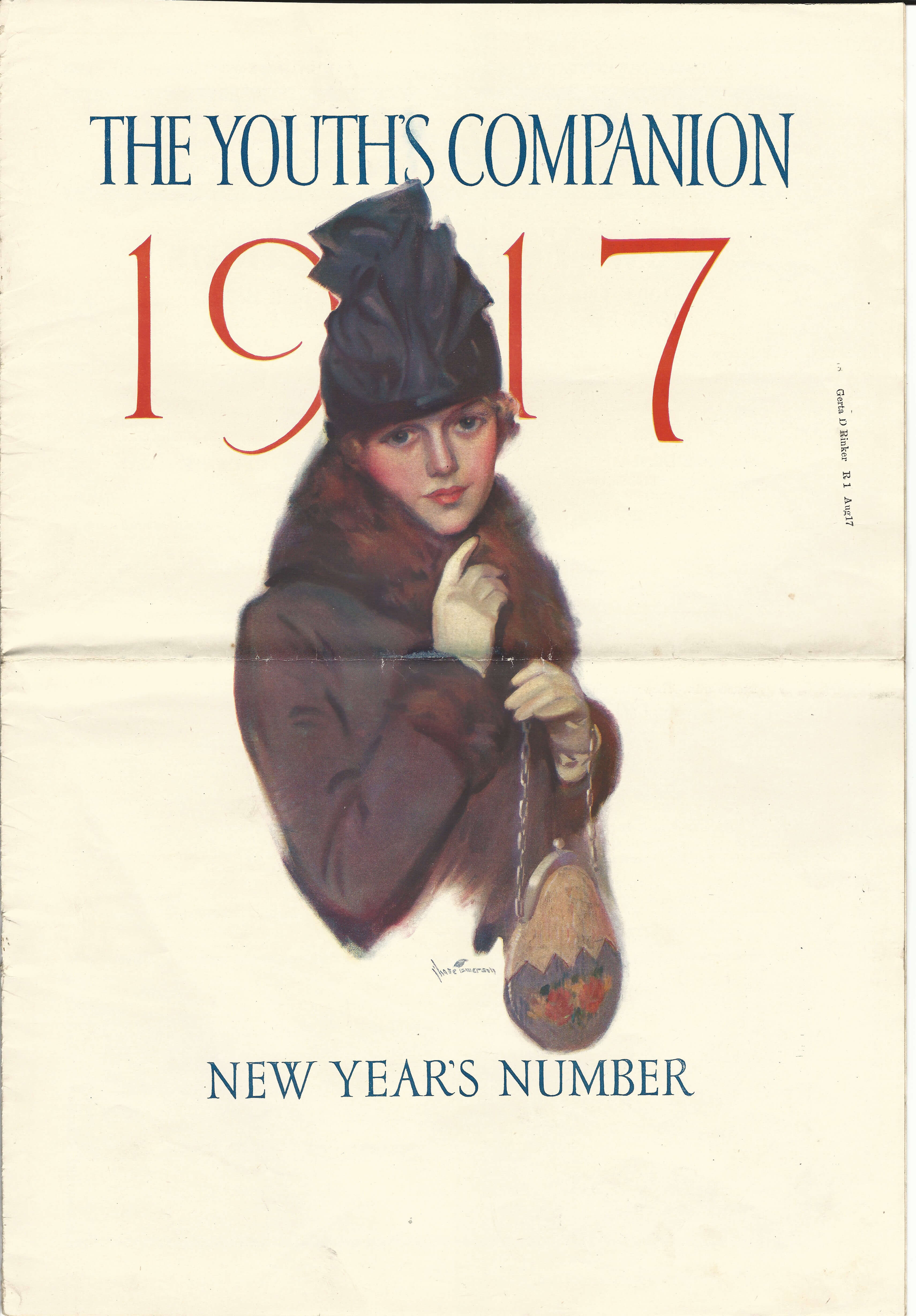 The Youth's Companion - January 04, 1917 - Color Front Cover