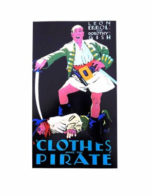 CLOTHES MAKE THE PIRATE Art Deco Cinema Poster by Batiste Madalena