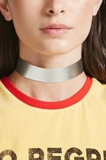 Forever21 Metallic Faux Leather Choker