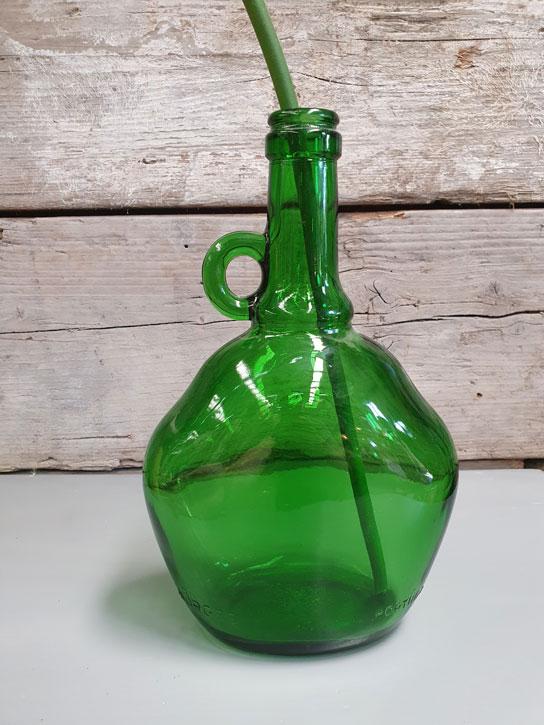 Oud Vintage Vaasje Groen | Vintage Brabant