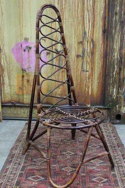 Rotan Stoel   Vintage Brabant