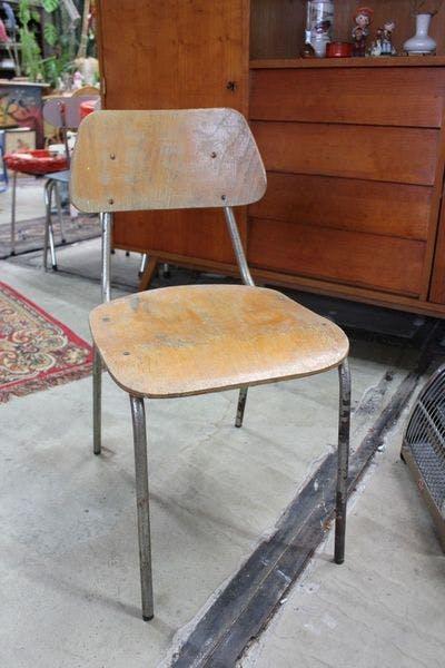 Vintage School Stoel | Vintage Brabant