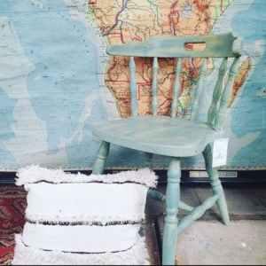Blauwe vintage stoel | Vintage Brabant